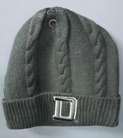 Stall & Dean Vintage Beanie Knit Hat - Dark Gray