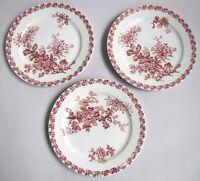 3 Assiettes Plates décor Mulhouse en Faïence de Sarreguemines