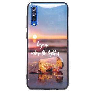 Pellicola+Custodia cover flessibile lucida TRAMONTO LUCE Samsung Galaxy A50 A30s