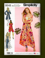 Misses Duster or Overdress Sewing Pattern~4 Variations! (14-22) Simplicity 8648