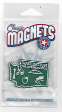 WASHINGTON  WA  THE EVERGREEN      STATE OUTLINE MAP MAGNET in Souvenir Bag, NEW