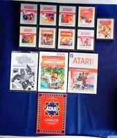 Atari 2600 Game Cartridge Lot Of 13 All Silver Label Dig Dug Pole Position ET +