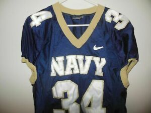 NAVAL ACADEMY (NAVY FOOTBALL)MIDSHIPMEN  GAME USED  FOOTBALL JERSEY