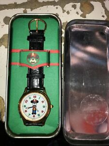 Mens Disney Fossil Vintage Mickey Mouse Watch (Christmas)-(1991)VHTF-Retired-New