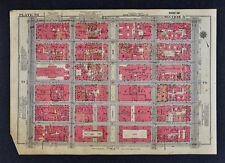 1934 New York City Map Rockefeller Center - Radio City - St. Patrick's Cathedral