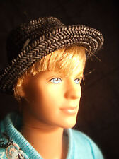 Barbie Fashionistas HOTTIE Ken Fedora Hat Blue Shirt Fully Articulated Poses