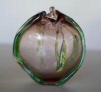 "Amazing LOREN CHAPMAN Studio Art Glass Vessel ""Alien Oozing Pod"""
