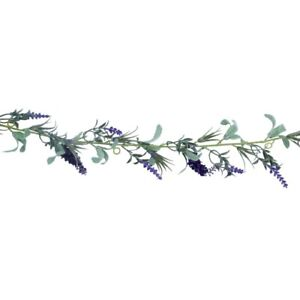 Faux Lavender Artificial Flower Easter Spring Garland - 180cm - Gisela Graham