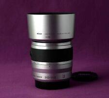 Nikon 1 Nikkor 30-110mm f/3.8-5.6 VR Lens with Caps and Hood - SILVER 1909B