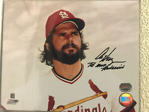 Al Hrabosky Signed St. Louis Cardinals 8x10 Photo Mounted Memories