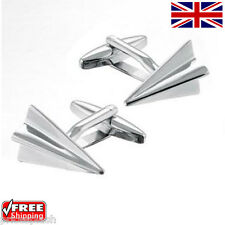 Cool Men's Women's Dress Paper Aeroplane Plane Cufflinks Novelty Design Cuffs