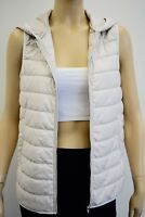 Theory Beige Quilted Hooded Vest Size 40/6 On Sale