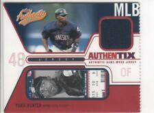 2004 Fleer JA-MLB AUTHENTIX *TORII HUNTER* (GAME WORN JERSEY) Minnesota Twins