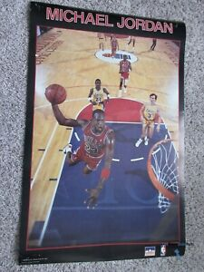 NBA Basketball Starline Poster - Michael Jordan - 22x34 inch Black Red 1988