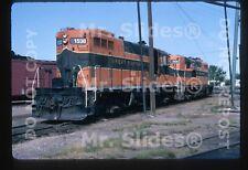 Original Slide GN Great Northern /BN # GP7 1538 & 1500 Grand Forks ND 1970