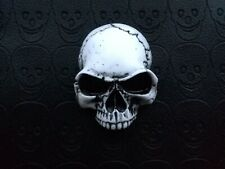 3d Skull Emblem Badge Sticker for Custom Car Motorcycle Bike Hot Rod IVORY