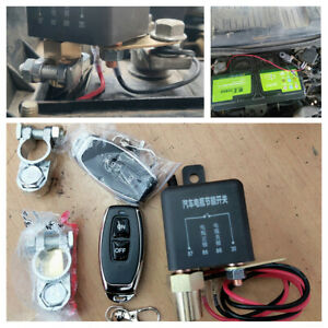 Wireless Remote Car Battery Quick Cut-off Disconnect Master Kill Switch Relay