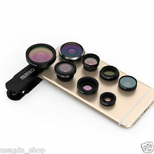 MEMTEQ 8in1 Clip-On Fisheye+Wide Angle+Macro Camera Lens for iPhone 7 6 6S Plus