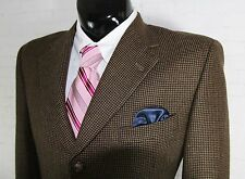 BURBERRY LONDON (40R) Mens Brown Gingham 100% Wool 3 Button Sport Coat