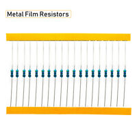 600Pcs 30 Values 1/4W Metal Film Resistors 0.25 W Resistance Assortment Kit US