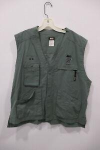 REI Co-op Staff Employee Work Cargo Vest Unisex Large Green Pockets
