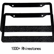 Pair Black Bling Metal License Plate Frame Car Auto For Dodge Jeep Best Gift