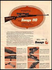 1958 Savage 110 Rifle 30-06 and 270 Vintage Print Ad
