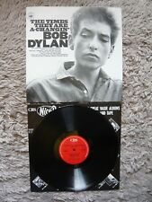 """BOB DYLAN the times they are a-Comme """"vinyl uk 1985 CBS Re-issue A4/B5 LP EXC"""