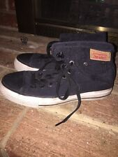 LEVI STRAUSS Jeans Womens Black CANVAS HIGH TOP Athletic Sneakers SHOES Sz 5.5 ❤