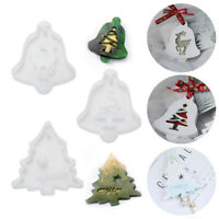 1pc Christmas Tree Silicone Mold Snowflake Elk Mould Jewelry Making Mold Craft