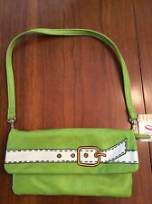 Jazzd Girls Foldable Clutch Purse Wallet Green Removable Strap NWT