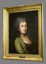 ca 1770 Lady Portrait by Thomas Gainsborough Framed Antique Oil Painting