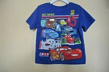 Cars2 Characters-Boys Size 3 Toddler-Go Team!-Licensed Short Sleeve Top-Nwot