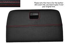 Rojo Stitch Paquete Estante Trasera Caja De Guantes De Cuero Tapa se ajusta Nissan 350z 02-09