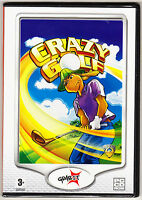 CRAZY GOLF - ORIGINAL STRATEGY/SKILL GAME - WINDOWS - NEW & SEALED PC CD ROM