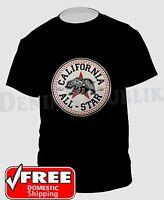 CALIFORNIA ALL STAR CALI LIFE STATE BEAR T-Shirt Black  New Men's Tee