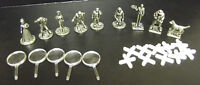 Replacement/spare Pewter figure and tokens for CLUEDO SUPER SLEUTH choose: