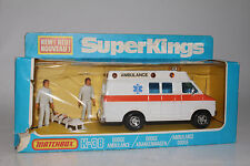 MATCHBOX SUPER KINGS #K-38 DODGE AMBULANCE, EXCELLENT, BOXED