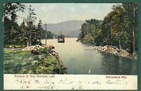 Entrance to Blue Mtn Lake-Adirondacks-RPPC?-U/UDB-Postmarked 1907-American News