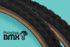 "Kenda Comp 3 III old school BMX skinwall gumwall tires 24"" X 2.125"" BLACK (PAIR)"