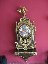 Original große antike Boulle Uhr aus der Zeit um 1860