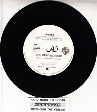 "CHICAGO  Hard Habit To Break  7"" 45 rpm vinyl record + juke box title strip"