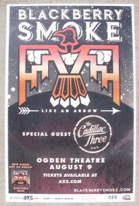 BLACKBERRY SMOKE Like An Arrow Tour 2017 Ogden - Denver 11x17 Flyer / Gig Poster