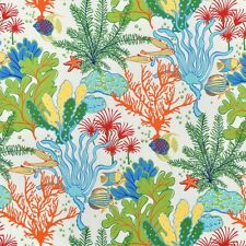 Splish Splash Atlantis Outdoor Fabric, Marine Life Upholstery Fabric Yardage