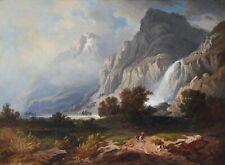 Ölgemälde Ölbild alt antik Romantik Biedermeier Landschaft Münchner Schule ~1850