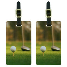 Golf Ball Club - Golfing Luggage Suitcase Carry-On ID Tags Set of 2