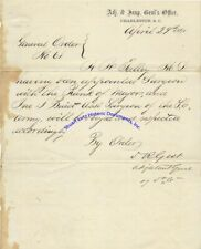 States Rights Gist signed South Carolina military commission 1861 after Ft Sumtr