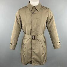 BEAMS Size S Olive Polyester Buttoned Belted Long Coat
