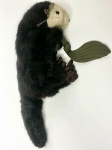 "Folkmanis Sea Otter With Kelp Hand Puppet Plush 19"" Tall Stuffed Animal Toy"