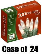 24 Holiday Wonderland 40004-88 100 Ct Clear Extra Bright Christmas Light Sets